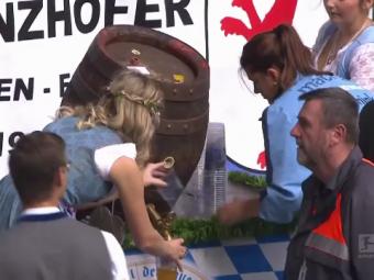 Momente senzationale la Munchen pe Allianz Arena de Oktoberfest. Cum au aparut jucatorii pe teren
