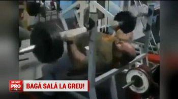Un greu s-a pus cu burta pe haltere :) Cum a reusit sa ridice peste 100 de kg: VIDEO