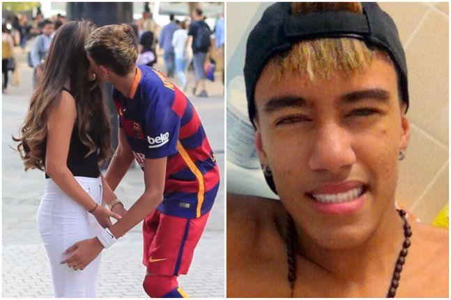 S-a dat drept Neymar si a reusit sa sarute o gramada de fete :)) SUPER VIDEO Ce succes are replica brazilianului pe strazi