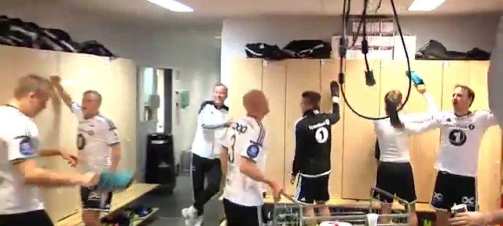 Au eliminat Steaua din Liga, acum sunt aproape campioni. Jucatorii lui Rosenborg fac din nou senzatie cu RITUALUL din vestiar: VIDEO