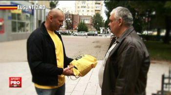 """""""Pot sa va pup?"""" Stelea a impartit mingi pe strada in Giurgiu! Cum au reactionat oamenii care l-au vazut! VIDEO"""
