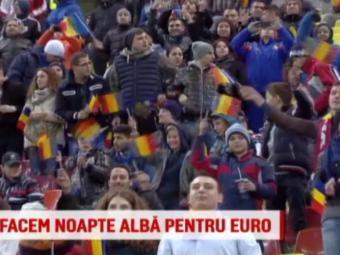 """VIDEO   Romanii sunt pregatiti sa strige in cor: """"Eu sunt 12"""". Suporterii au facut noapte alba la casele de bilete pentru a vedea Romania - Finlanda"""