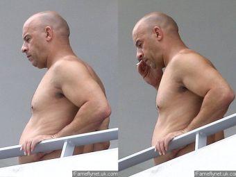 Vin Diesel s-a ENERVAT dupa ce a fost pozat cu burta! Cum arata in realitate abdomentul starului din Fast & Furious! FOTO