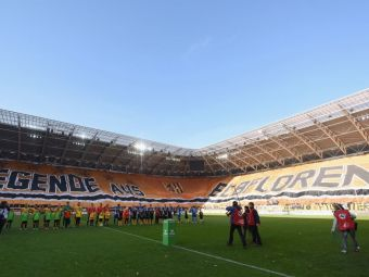 Cel mai mare banner din istoria fotbalului vine din Liga a 3-a. Mesajul pe care l-au afisat suporterii lui Dinamo Dresda. FOTO