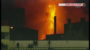 """INCREDIBIL: arbitrul a lasat meciul sa continue, in ciuda exploziei puternice care a activat CODUL ROSU de interventie la Brasov: """"Am crezut ca focul vine peste noi!"""""""