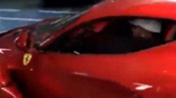 Aparitie spectaculoasa a lui Hamilton in public. Cum arata Ferrari-ul de un milion de euro din care a coborat. VIDEO