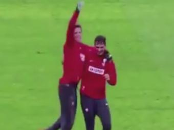 Faza IMPOSIBILA reusita de Lucasz Szukala la antrenamentul Poloniei! Un jucator de la Roma a ramas masca! VIDEO