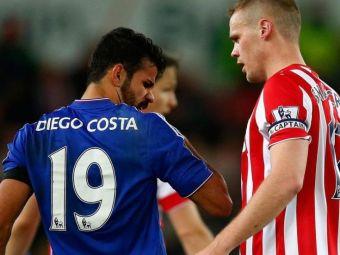 """""""Mirosi a transpiratie!"""" Gestul ORIBIL al lui Diego Costa s-a transformat in stirea momentului! Ce surpriza a avut Shawcross"""