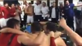Scene nebune in vestiarul Ungariei dupa calificarea la Euro! Cum s-au distrat maghiarii dupa meci. VIDEO