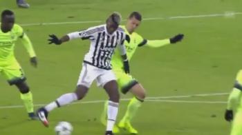 Nebunia serii in Champions League! Pogba s-a transformat in Ronaldinho pentru cateva secunde: ce a iesit VIDEO