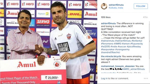 VIDEO Surpriza pentru Mutu dupa ce a inscris un gol MAGIC pentru Pune City! Ce s-a intamplat la finalul meciului