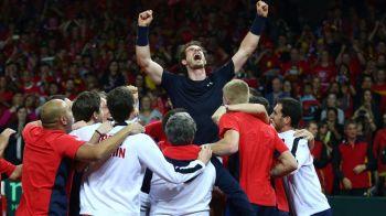 Britanicii sarbatoresc o performanta uriasa: prima finala de Cupa Davis castigata in ultimii 79 de ani! Andy Murray a facut azi punctul decisiv