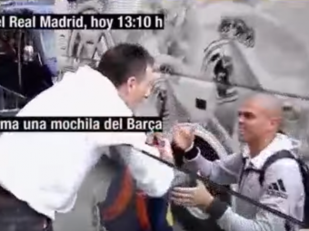 Faza geniala la Real Madrid! Un fan s-a dus la Pepe cu o esarfa a BARCELONEI pentru un autograf! Ce a facut jucatorul. VIDEO