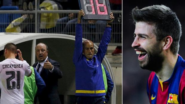 """Pique a """"ras cu lacrimi"""" de rivalii de la Real. Madrilenii pot pierde la masa verde meciul de Cupa, fundasul s-a amuzat impreuna cu fanii Barcei"""