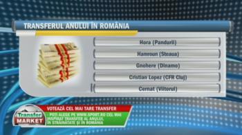 """SONDAJ Transfer Market   """"Bizonul"""" lui Dinamo, golgheterul surpriza al Ligii I sau """"magicianul"""" Hamroun, cine e transfer sezonului in Romania?"""