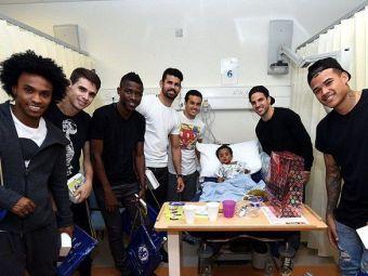 Momente emotionante pentru copiii aflati intr-un spital din Londra. Jucatorii lui Chelsea le-au facut o surpriza