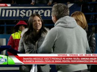 Moment impresionant inainte de Viitorul - Steaua! Hagi i-a premiat pe Simona Halep, Eliza Samara si Horia Tecau! VIDEO