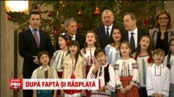 Nationala de handbal, premiata la Guvern! Ce cadou i-au facut fetele lui Dacian Ciolos! VIDEO