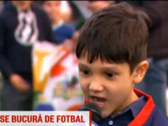 """""""Cati ani ai? 5. Si de cand joci fotbal?"""" Raspunsul GENIAL al acestui pusti de la scoala lui Vali Badea si Paraschiv"""