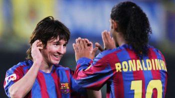 """""""Cine e mai mare: TU sau Messi?"""" Reactia lui Ronaldinho intr-un interviu eveniment in Marca"""
