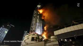 Clipe de GROAZA pentru fostul patron al Rapidului! I-a ars TOT in incendiul de la Dubai! De unde a pornit focul