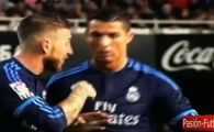 Imagini INCREDIBILE cu cearta intre Cristiano Ronaldo si Sergio Ramos la ultimul meci al lui Benitez! Starul portughez, facut KO de replica asta. VIDEO