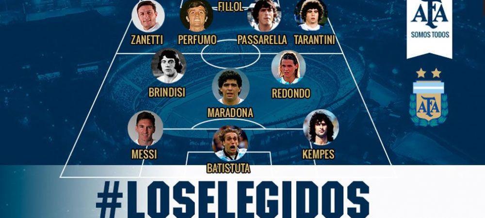 Visul oricarui fan din lume! Cum arata echipa care ii are pe Messi si Maradona in atac: Cel mai bun 11 din istoria Argentinei