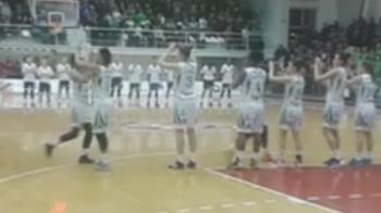 VIDEO! Momentul in care jucatoarele de la U Cluj se incalzesc in timpul imnului tinutului secuiesc! Reactia scandaloasa a salii