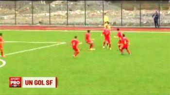 Pusitul dorit de Steaua si Dinamo a dat un gol superb pentru nationala U16: Antonio Sefer, una dintre sperantele fotbalului romanesc
