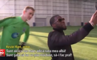 Hart vs. Hart | Momente nebune la antrenamentul lui Manchester City: portarul Joe Hart s-a intalnit cu actorul Kevin Hart