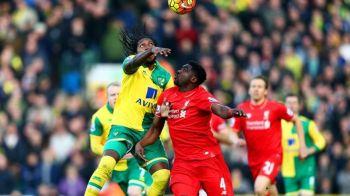 GOL FABULOS marcat in Premier League la Norwich - Liverpool! Executie EXTRATERESTRA, cu calcaiul, a lui Mbokani