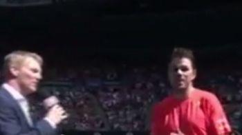 """Tu iti alegi singur cu ce te imbraci?"" Moment senzational cu Wawrinka la Australian Open. Toata lumea a inceput sa rada"