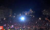 Imagini impresionante la Belgrad: 100.000 de sarbi au sarbatorit in strada castigarea trofeului european la polo VIDEO