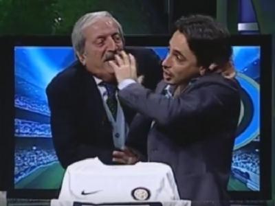 Va era dor de Crudeli? Comentatorul nebun care tine cu Milan a terorizat un fan Inter in timpul emisiunii, dupa victoria 3-0 :) VIDEO