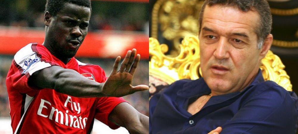 Ce a raspuns Becali cand a fost intrebat de transferul lui Eboue la Steaua. Ce spune despre fostul jucator al lui Arsenal
