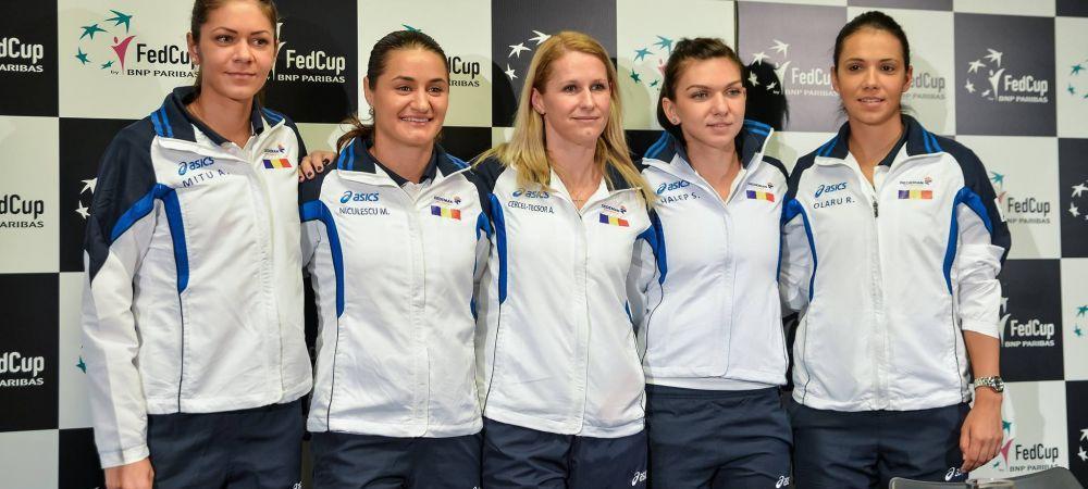 """Romania, eliminata in sferturi la Fed Cup! Umor involuntar cu Monica Niculescu la conferinta de presa: """"Daca jucam si eu cu locul 104..."""" Pe acest loc este tocmai Andreea Mitu :)"""