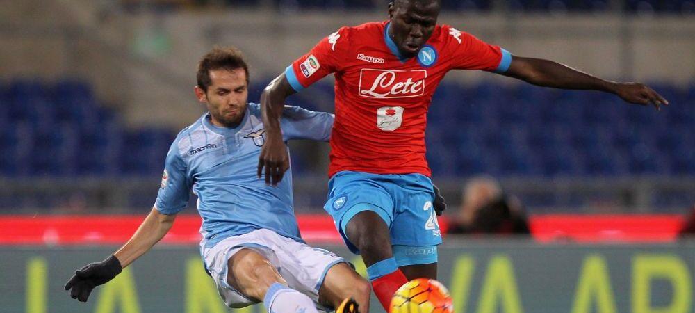"""Lazio - Napoli, oprit din cauza scandarilor rasiste la adresa lui Koulibaly: """"Ii multumesc arbitrului ca a avut curaj sa faca asta"""""""
