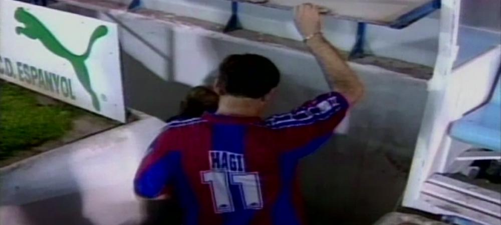 """Hagi inscrie cu o scarita de senzatie, Cruyff aplauda pe banca! SUPER VIDEO Vezi golul marcat de """"Rege"""" in tricoul Barcelonei"""