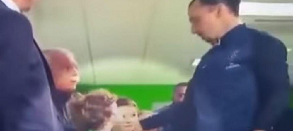 Moment genial facut de Zlatan pe tunelul de acces pe teren! Copilul care a trait cel mai frumos moment din viata sa. VIDEO