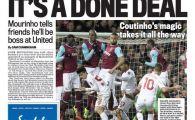 """3 ziare din Anglia au astazi pe prima pagina mesajul lui Mourinho pentru apropiati: """"Am semnat cu Manchester United!"""""""