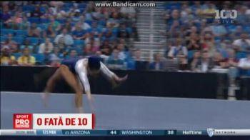 Aceasta gimnasta a facut SHOW la sol! :) Cu ce numar senzational poate ajunge la Rio