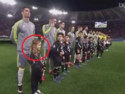 Gestul superb al lui Ronaldo pentru aceasta fetita! Ce a facut inainte de imnul Champions League