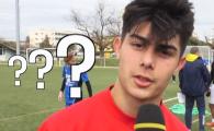 """VIDEO SENZATIONAL! """"La ce echipa joci?"""" Nimeni nu a inteles NIMIC! Cum a raspuns acest pusti din Spania venit sa dea probe la nationala Romaniei"""