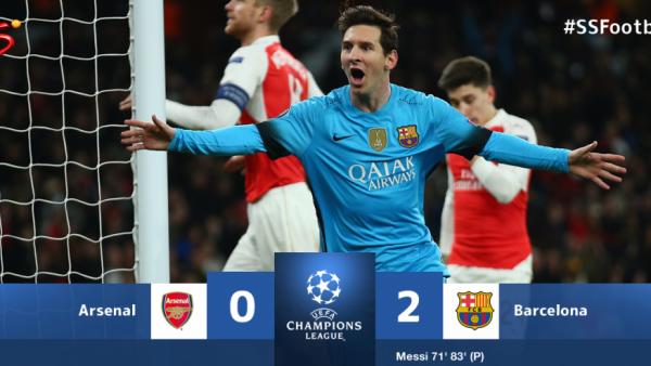 VIDEO REZUMATE: Bucurati-va de fotbal! Arsenal 0-2 Barcelona, Messi, Neymar si Suarez califica Barcelona! Juventus 2-2 Bayern! Revenire SENZATIONALA in final pentru Juve