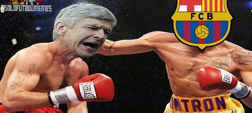 Dubla lui Messi cu Arsenal, intrecuta doar de Iniesta. Coafura spaniolului a starnit hohote de ras! Cum a aparut pe teren - FOTO