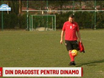 Dragostea acestui fan pentru Dinamo, de nepretuit! Le da numele copiilor dupa culorile clubului :) VIDEO