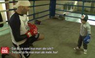 """Cel mai urias si cel mai pitic boxer din Romania se antreneaza impreuna! """"Lunetistul"""" Bogdan Dinu se bate pe 18 martie la ProTV"""
