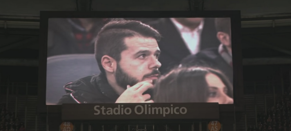 Farsa SENZATIONALA! Un spectator de la AS Roma - Real Madrid a avut parte de surpriza vietii pe Olimpico! VIDEO
