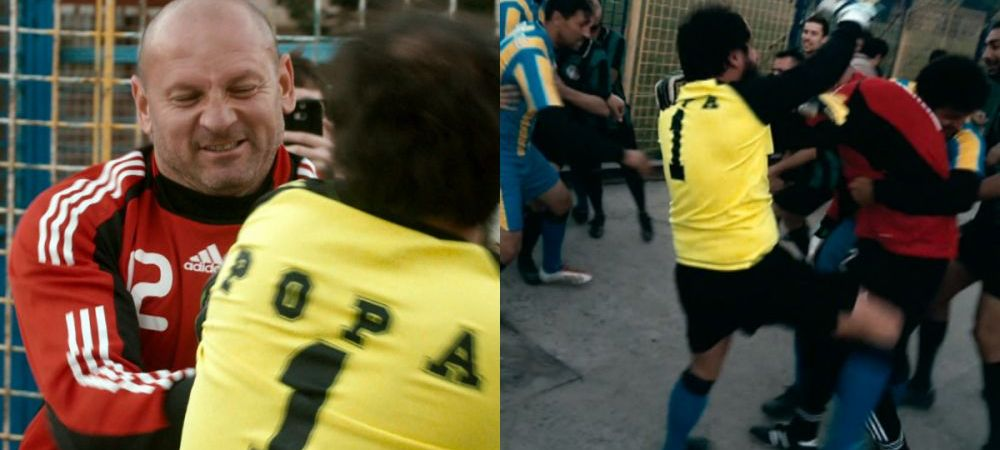 Bogdan Stelea, implicat intr-o bataie generala in Liga a 4-a! Imagini incredibile cu fostul portar al nationalei :)