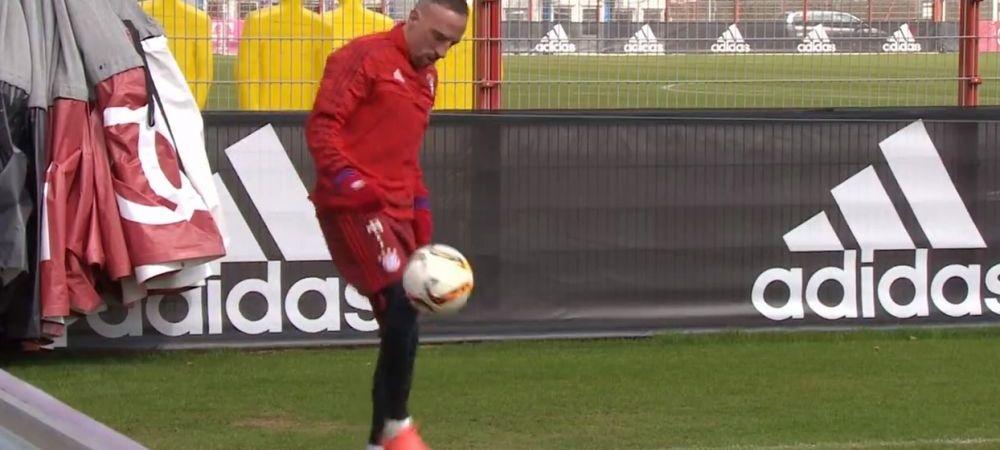 """Pare simplu, nu-i asa?"" Show total facut de Ribery la antrenament! A luat mingea si a inceput sa jongleze! Ce a iesit. VIDEO"
